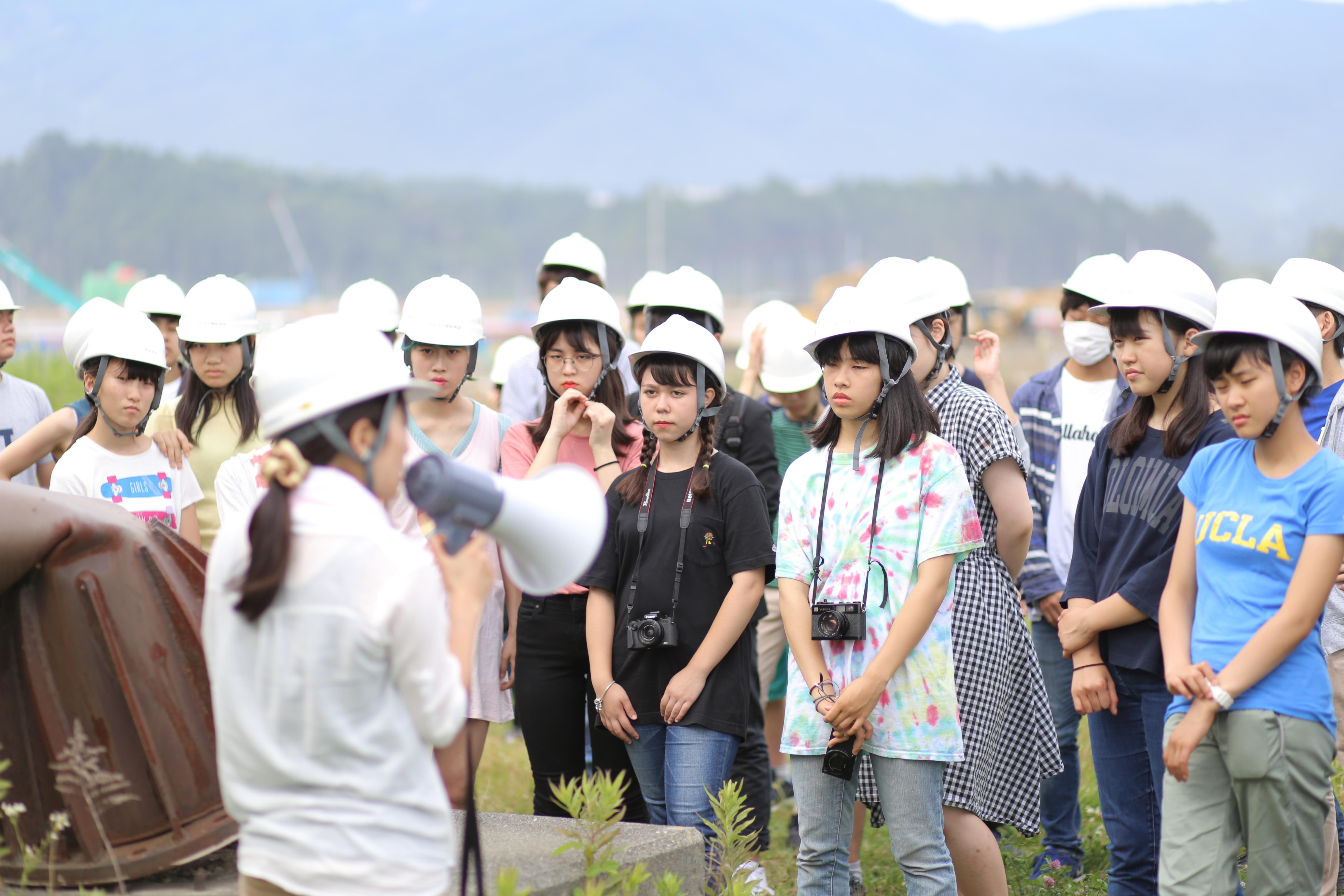 震災と向き合う岩戸中学校の生徒たち